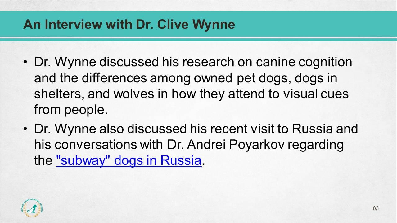 Dog Behavior Science Package - Applied Animal Behavior Academy